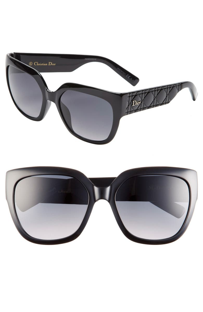 DIOR 'My Dior 3' 57mm Sunglasses, Main, color, 001