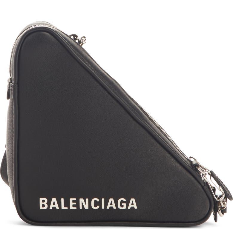 Balenciaga Triangle Pouch Convertible Calfskin Pouch