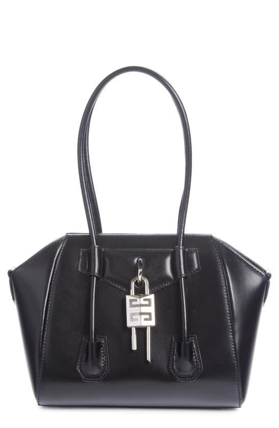 Givenchy Leathers MINI ANTIGONA LOCK LEATHER SATCHEL