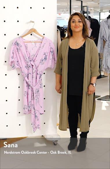 Dolman Sleeve Wrap Minidress, sales video thumbnail