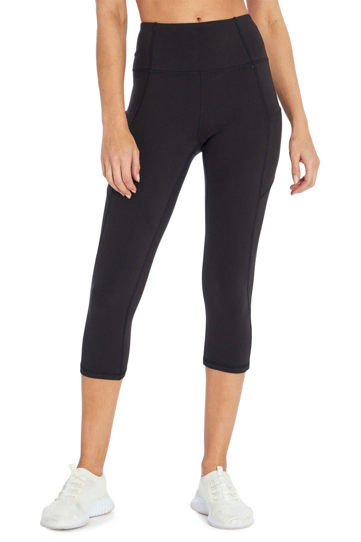 Jessica Simpson Sportswear Womens Tummy Control Pocket Capri Legging