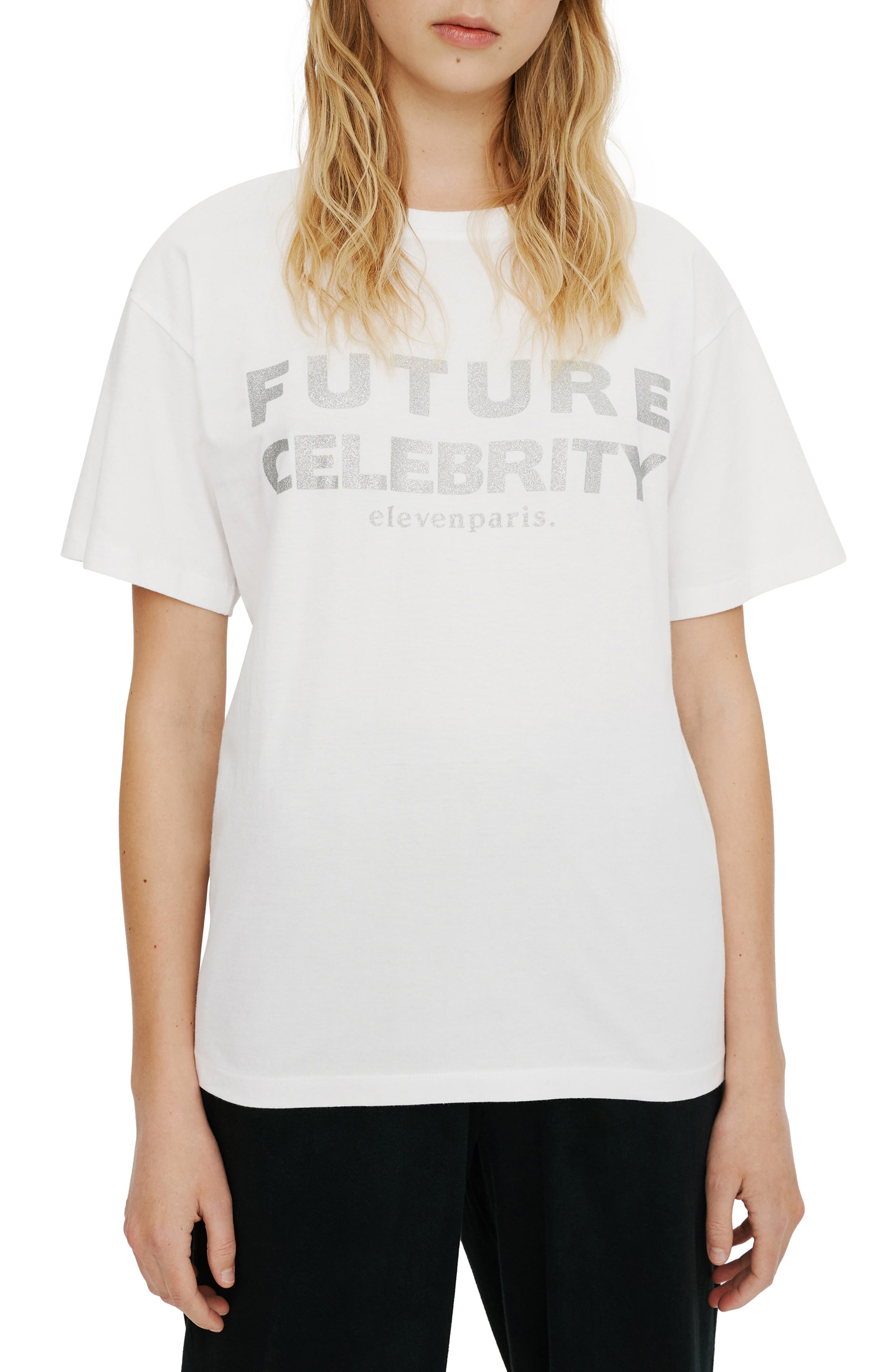 Future Celebrity Glitter Graphic Tee