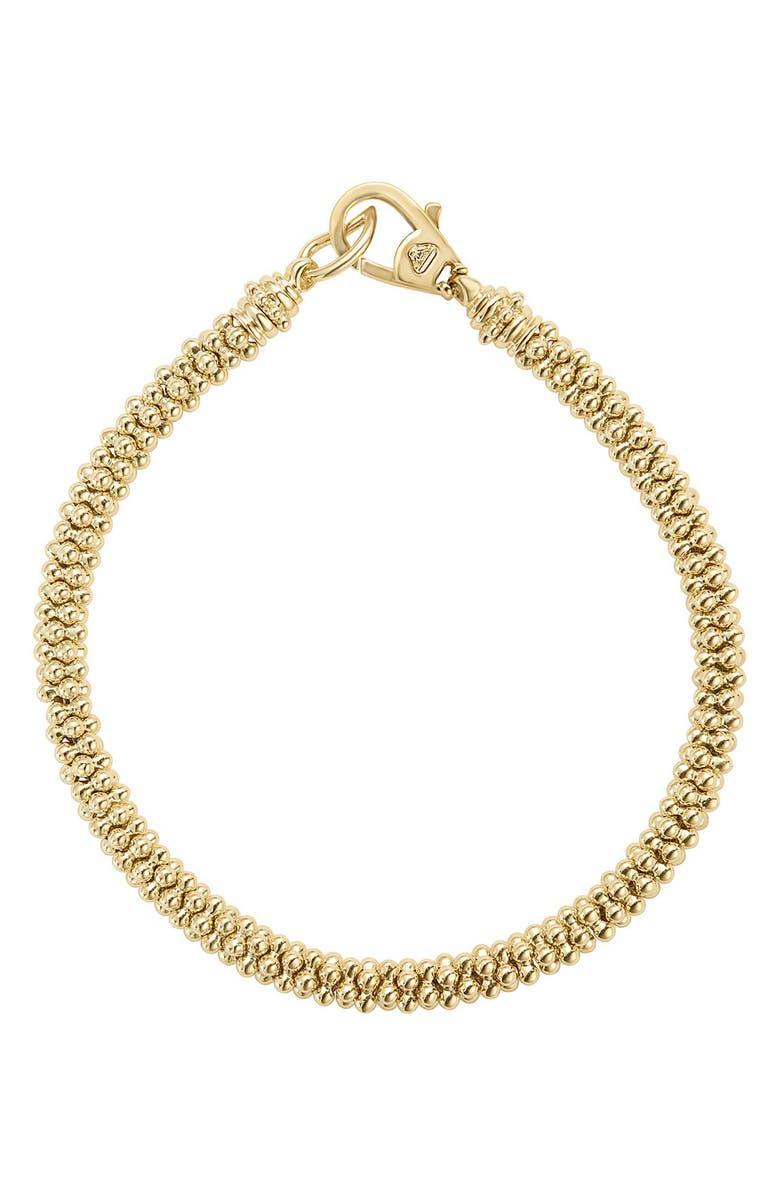 LAGOS Caviar Bead Bracelet, Main, color, YELLOW GOLD