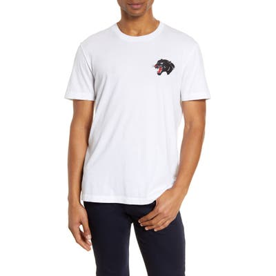 French Connection Embroidered Panther T-Shirt, White