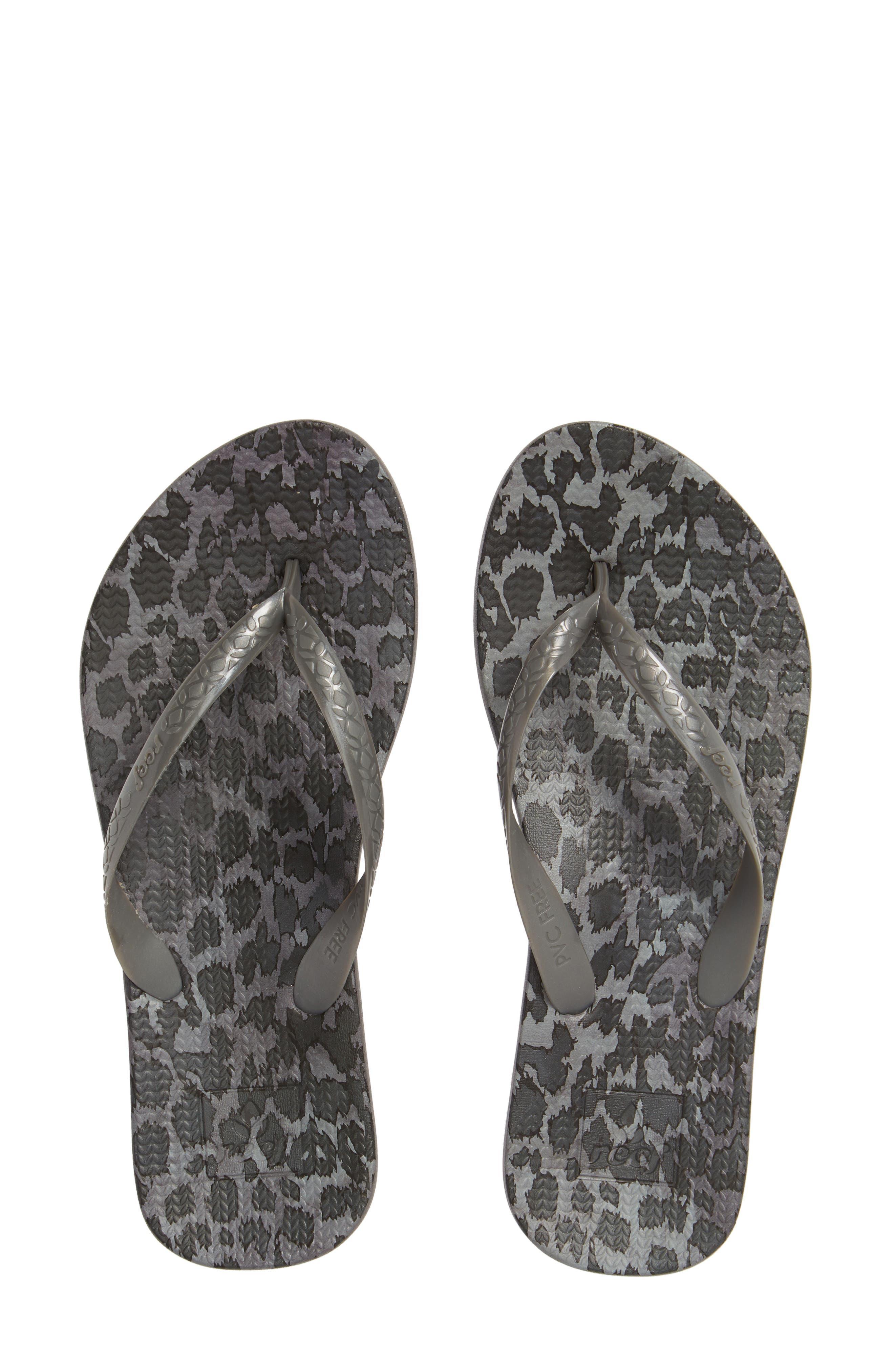 Reef Escape Lux Print Flip Flop, Grey