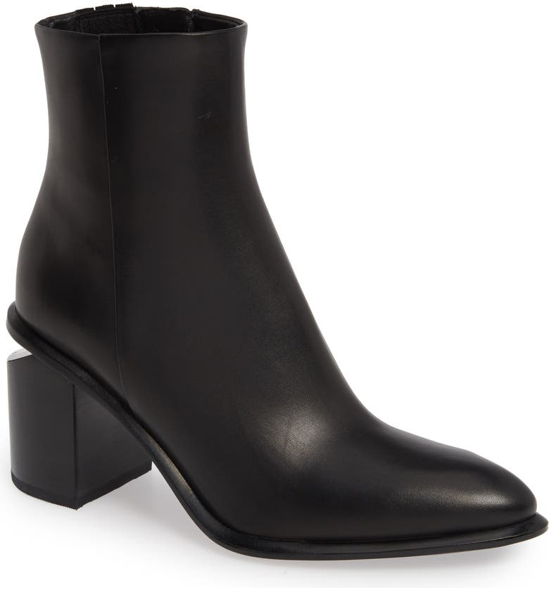 ALEXANDER WANG Anna Mid Bootie, Main, color, BLACK