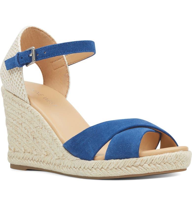 NINE WEST Jordyn Espadrille Wedge Sandal, Main, color, BERMUDA SUEDE