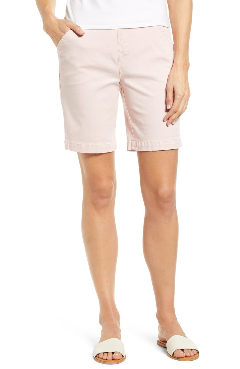JAG JEANS Gracie Stretch Cotton Shorts, Main, color, CONCH SHELL