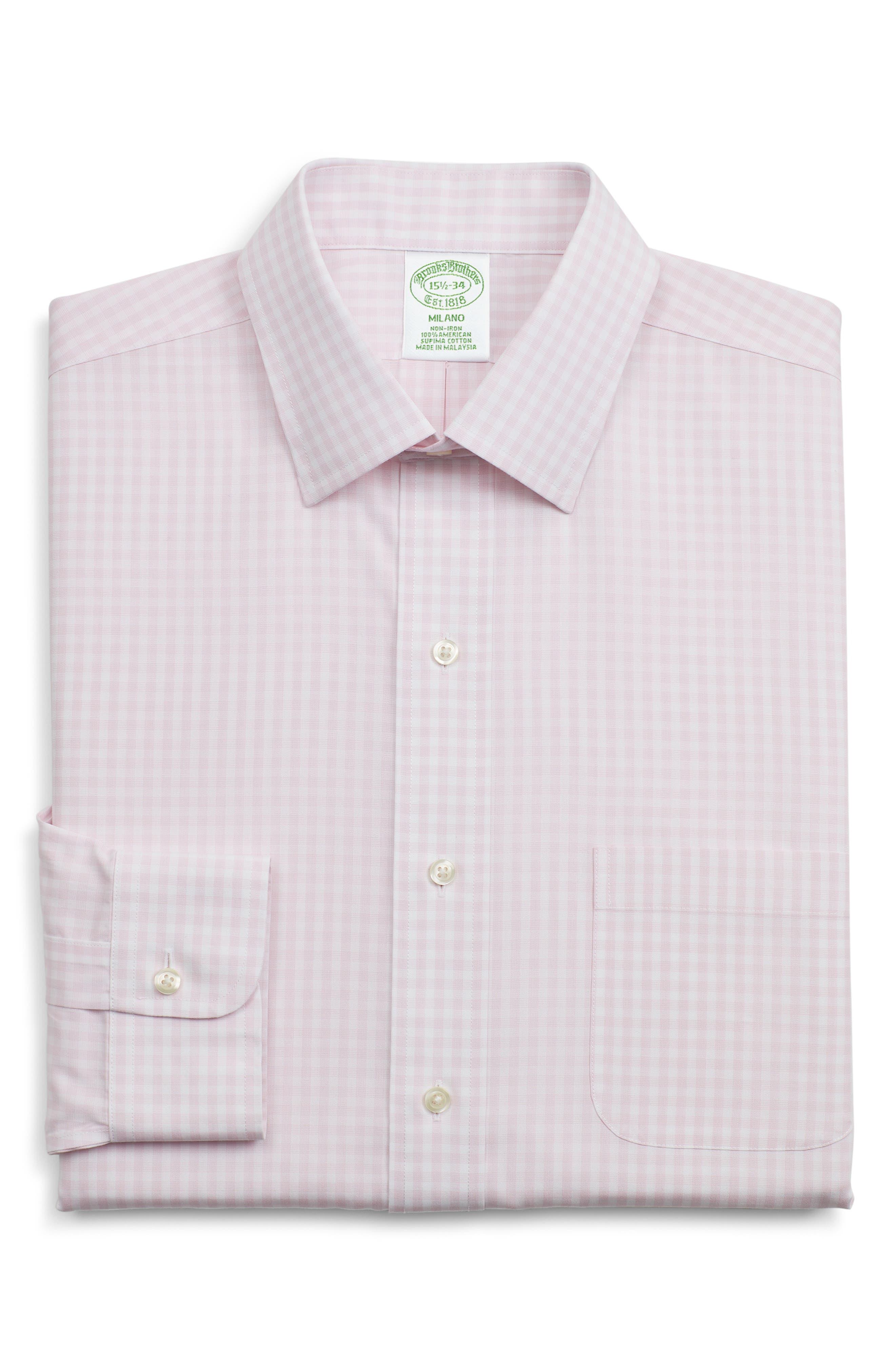 Brooks Brothers Milano Slim Fit Check Dress Shirt