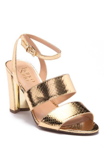 Image of Franco Sarto Haneli Reptile-Embossed Ankle Strap Sandal