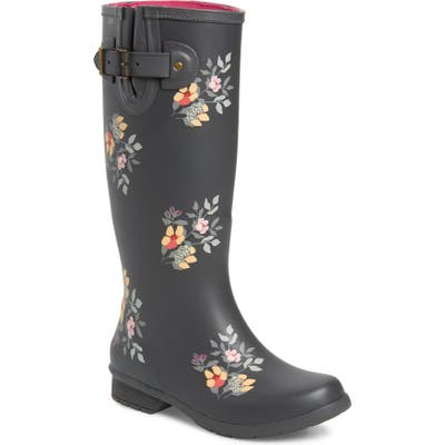 Chooka Bailey Tall Waterproof Rain Boot, Grey