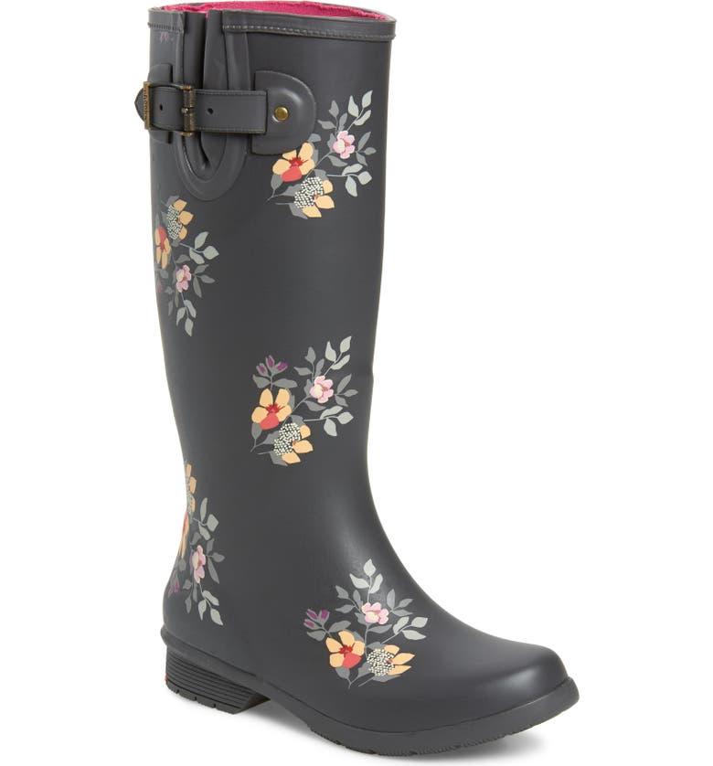 CHOOKA Bailey Tall Waterproof Rain Boot, Main, color, CHARCOAL RUBBER