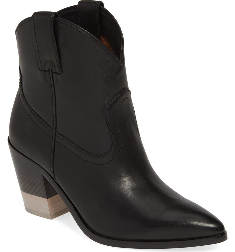 FRYE Faye Chevron Bootie, Main, color, BLACK
