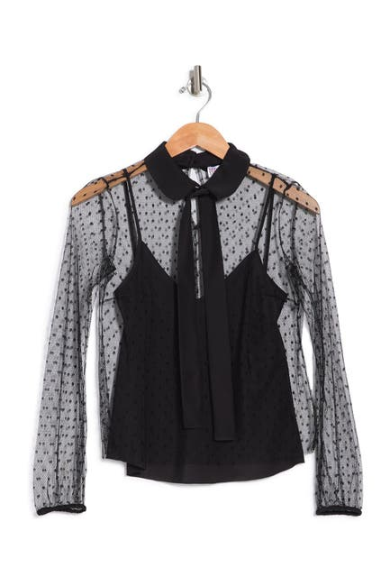 Image of RED Valentino Bow Long Sleeve Top
