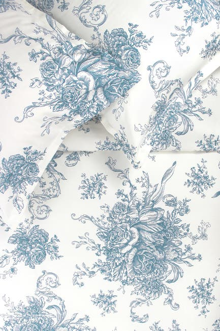 Image of Melange Home King 400 Thread Count Cotton Toile Duvet Set
