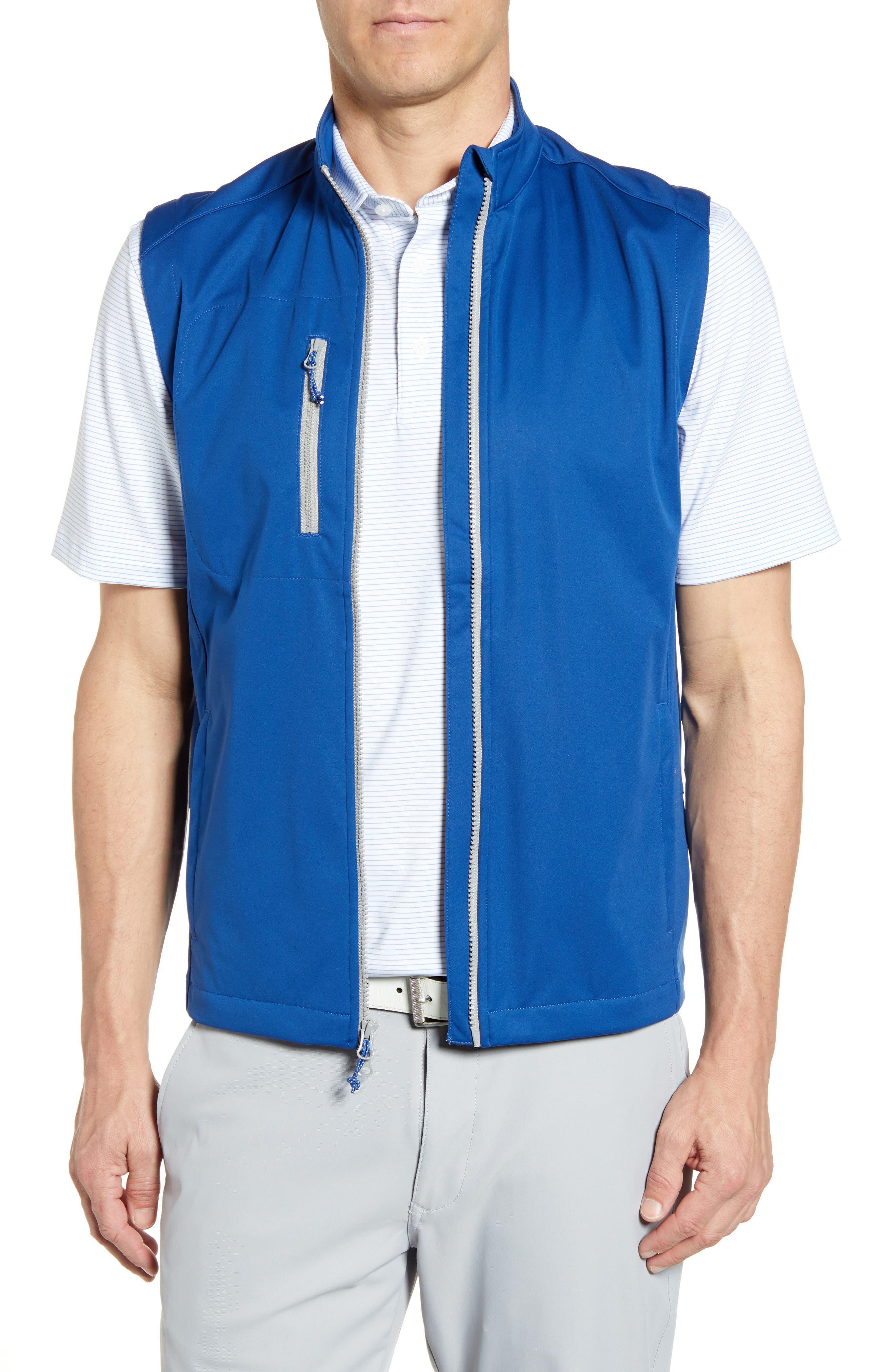 Johnnie-O Firestone Zip Vest, Blue