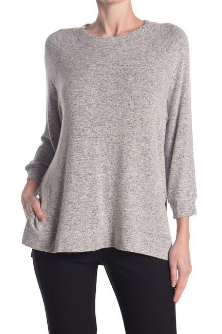 Image of Donna Karan Soft Knit 3/4 Sleeve Lounge Top