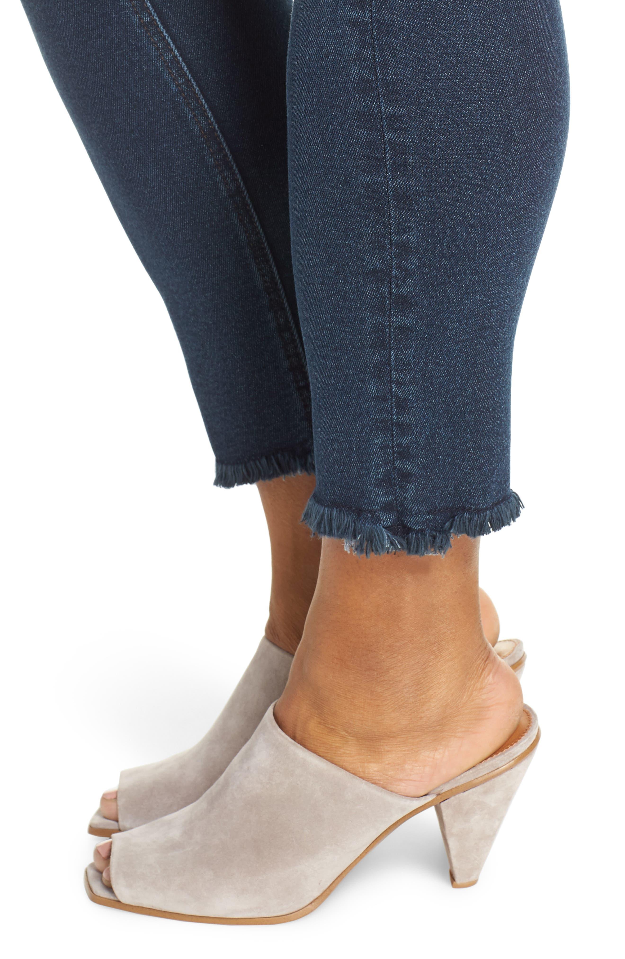 ,                             Perfect Vintage High Waist Core Fringe Hem Skinny Jeans,                             Alternate thumbnail 5, color,                             WINSTON