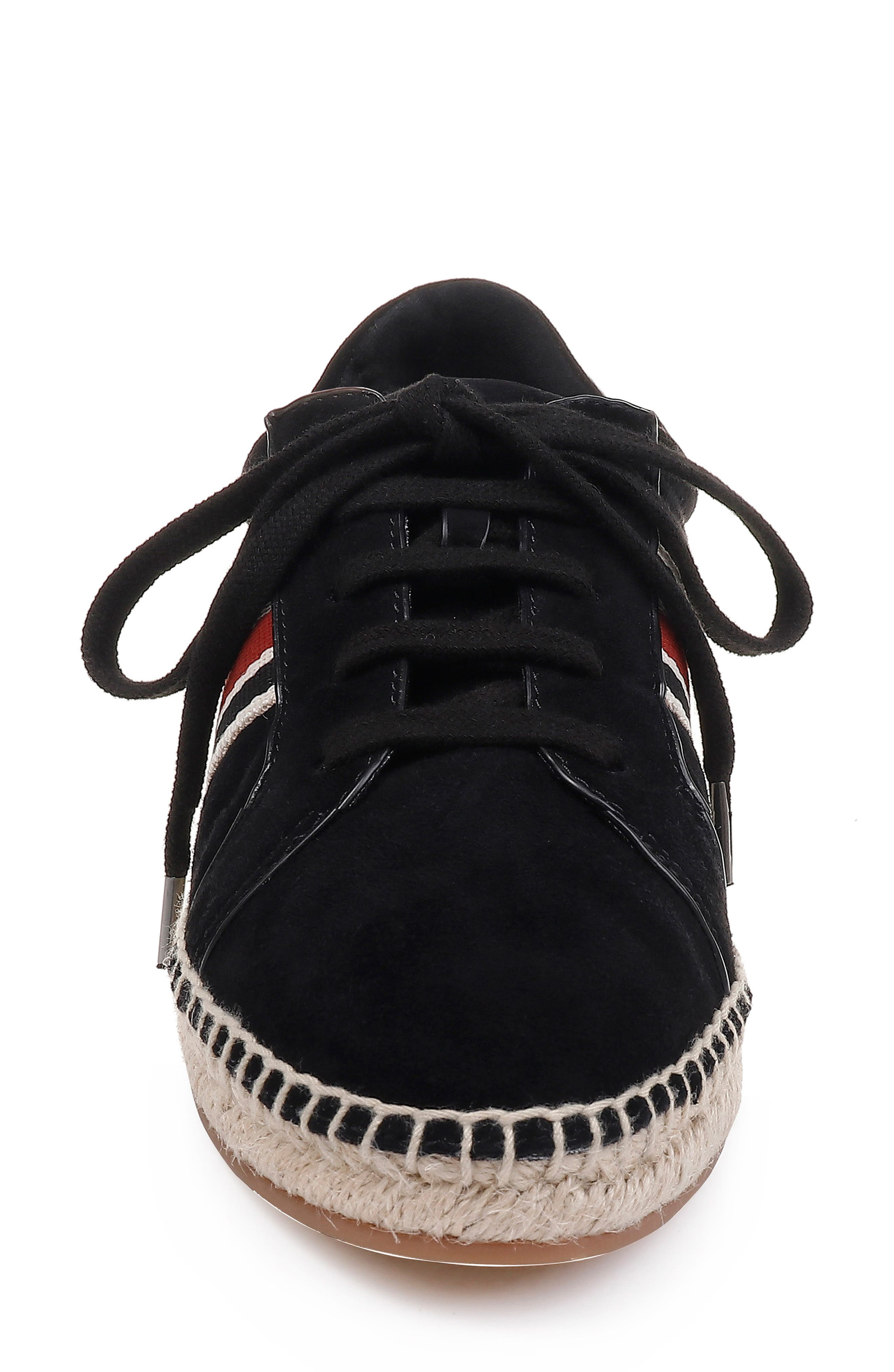 ,                             Sada Espadrille Sneaker,                             Alternate thumbnail 4, color,                             BLACK SUEDE