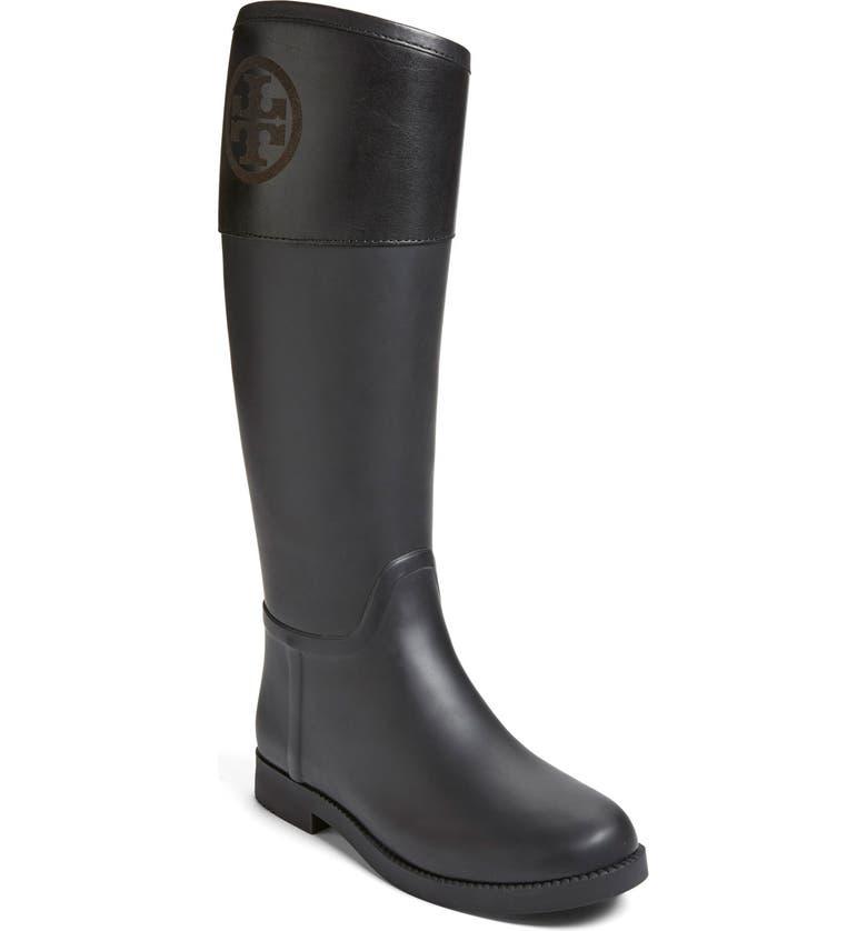 TORY BURCH 'Classic' Rain Boot, Main, color, 009
