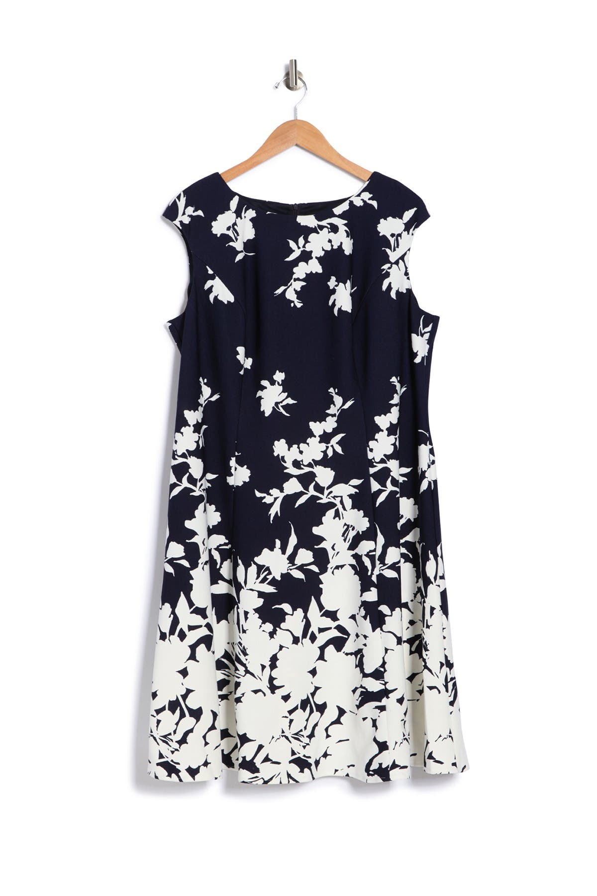 London Times FLORAL FIT & FLARE DRESS