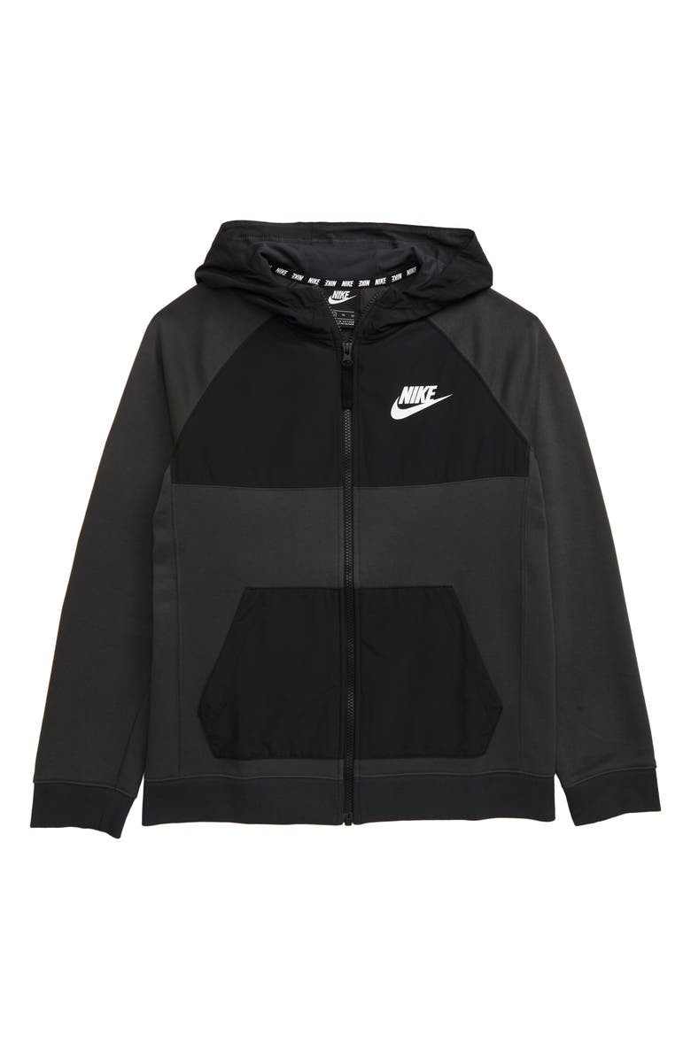 NIKE Sportswear Full Zip Hoodie, Main, color, ANTHRACITE/ DARK GREY HEATHER