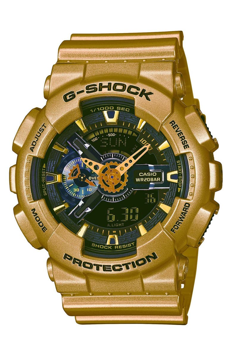 G-SHOCK BABY-G G-Shock Resin Ana-Digi Watch, 51mm, Main, color, 710