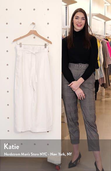 Paperbag Waist Wide Leg Crop Pants, sales video thumbnail