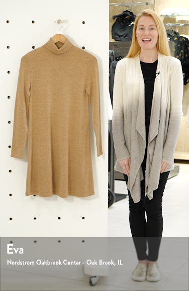 Happy Roll Neck Long Sleeve A-Line Sweater Dress, sales video thumbnail