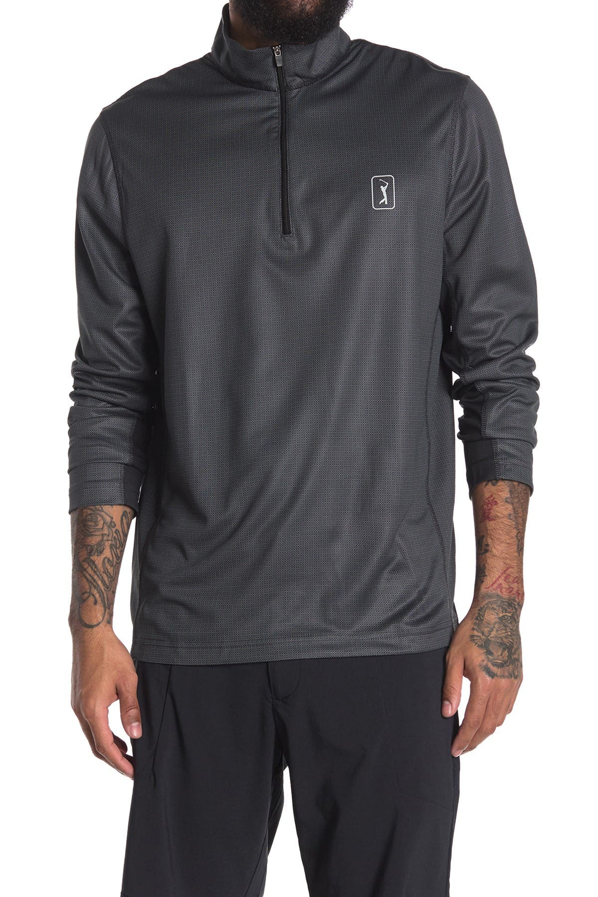 Image of PGA TOUR Printed Quarter Zip Pullover