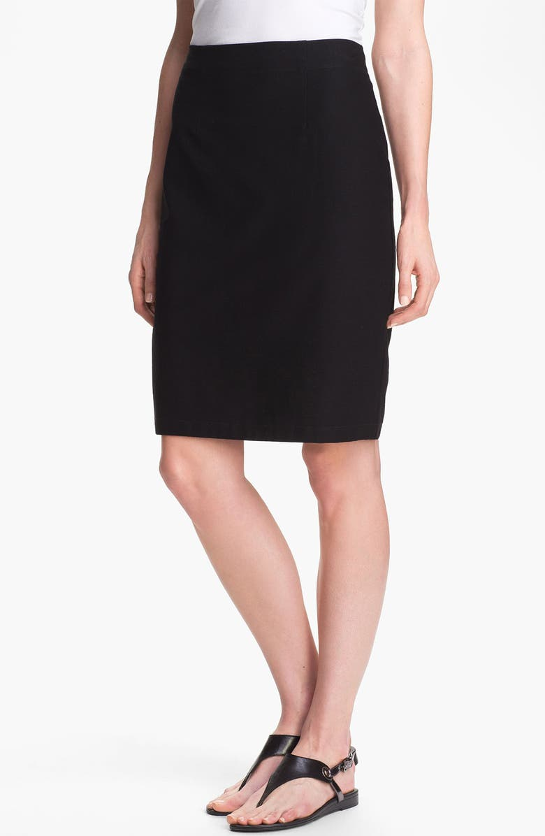 EILEEN FISHER Knit Pencil Skirt, Main, color, 001