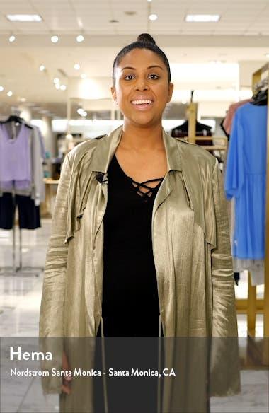 Augustine Silk Blend Minidress, sales video thumbnail