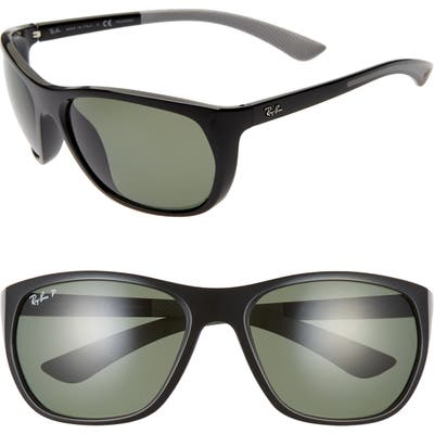 Ray-Ban 61mm Wrap Sunglasses - Black