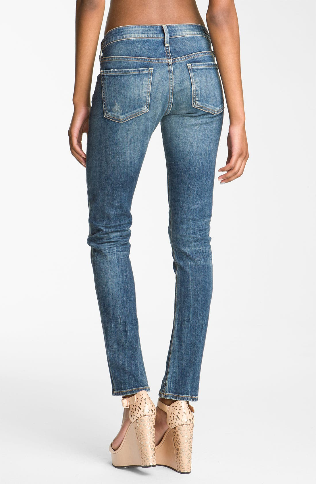 ,                             'Racer' Low Rise Skinny Jeans,                             Alternate thumbnail 3, color,                             400