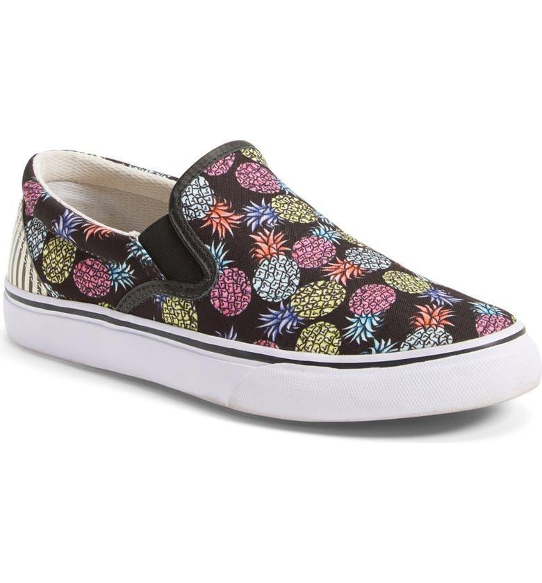 SOPHIA WEBSTER 'Adele - Pineapple' Satin Slip-On Sneaker, Main, color, 001