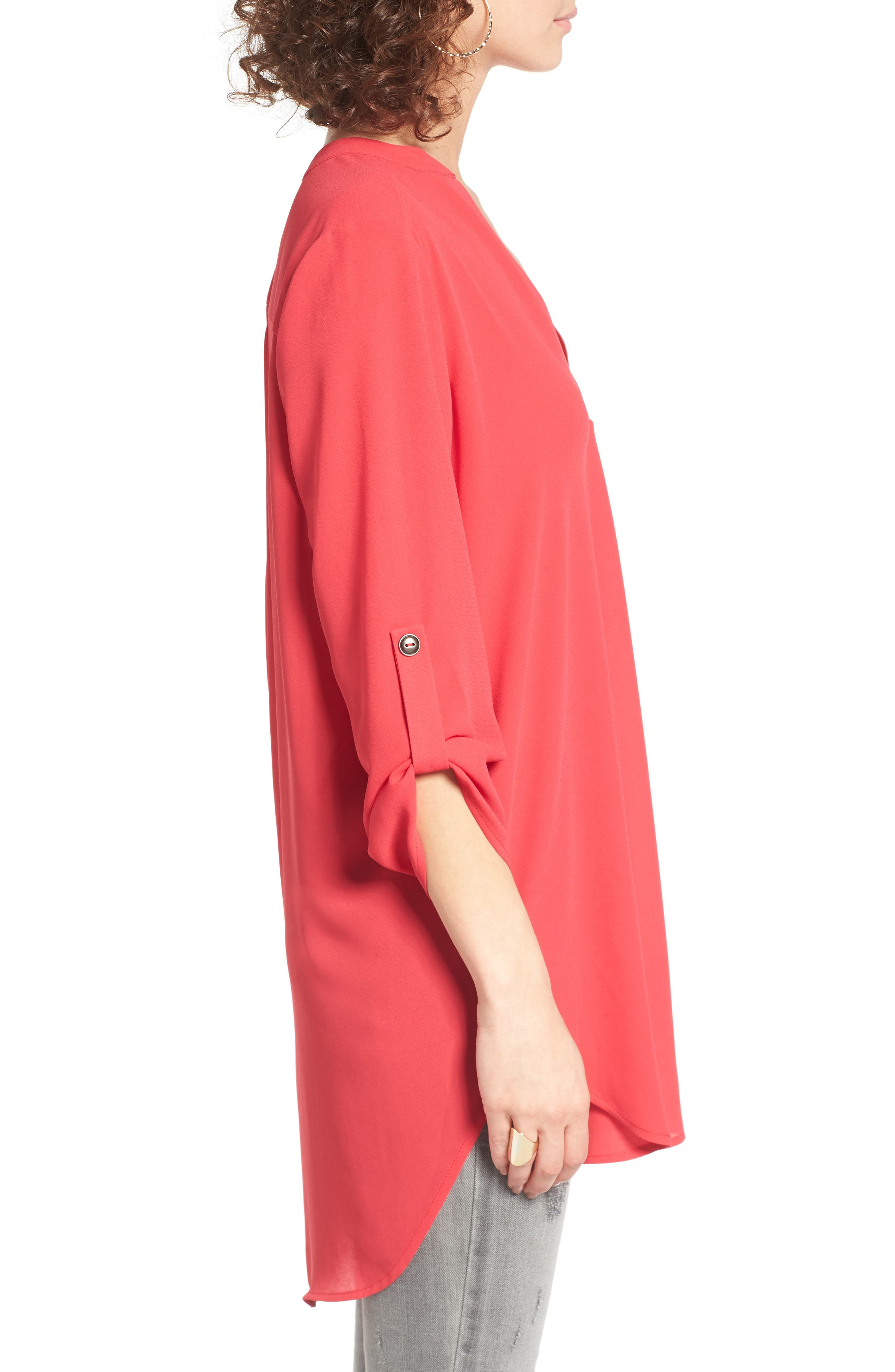 ,                             Perfect Roll Tab Sleeve Tunic,                             Alternate thumbnail 369, color,                             660