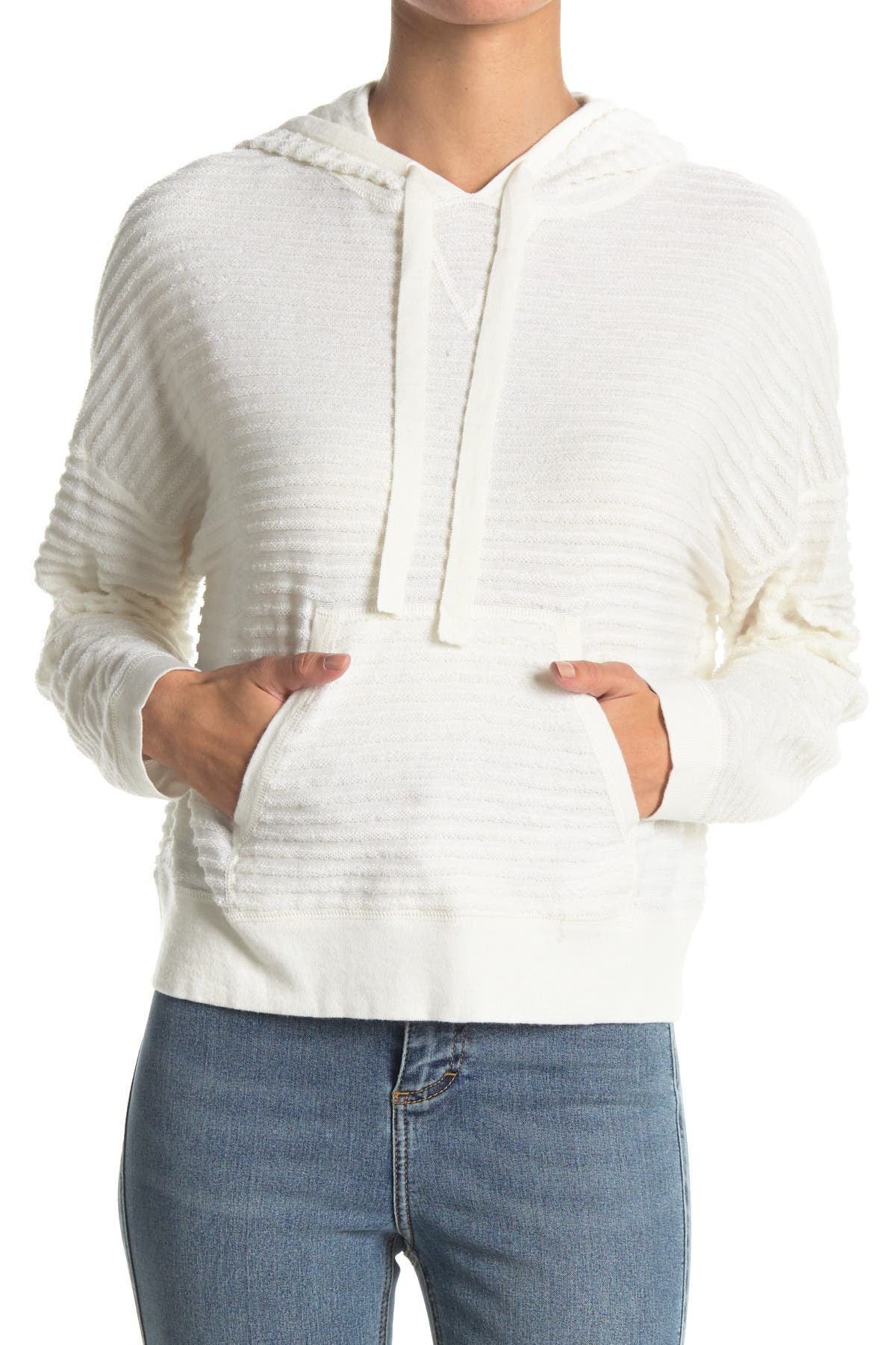 Image of Line Lilana Ribbed Pullover Hoodie