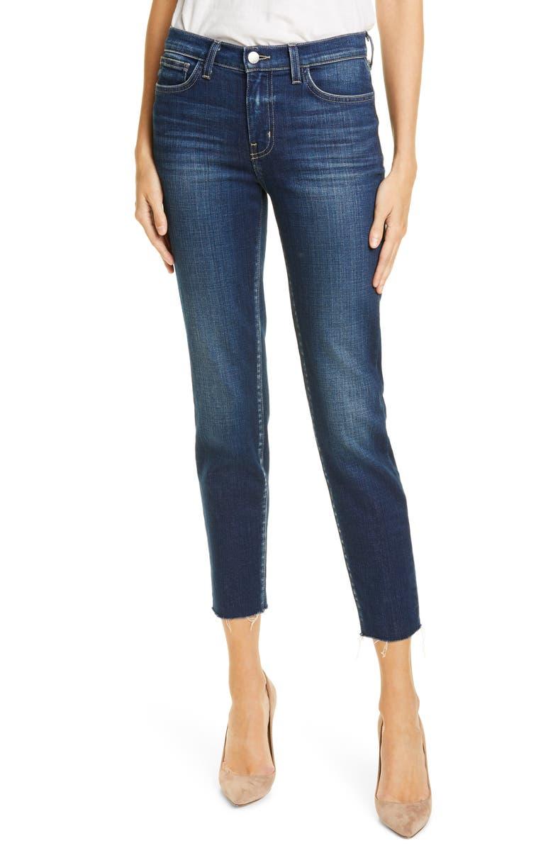 L'AGENCE El Matador French Slim Crop Jeans, Main, color, SALTON