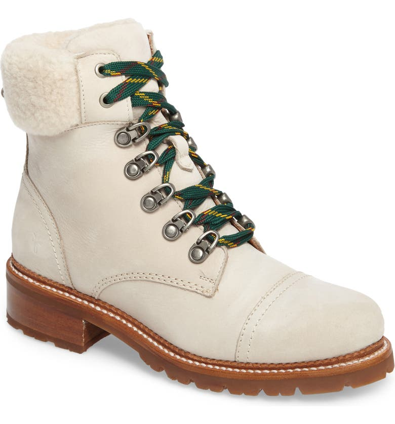 FRYE Samantha Water Resistant Hiking Boot, Main, color, IVORY