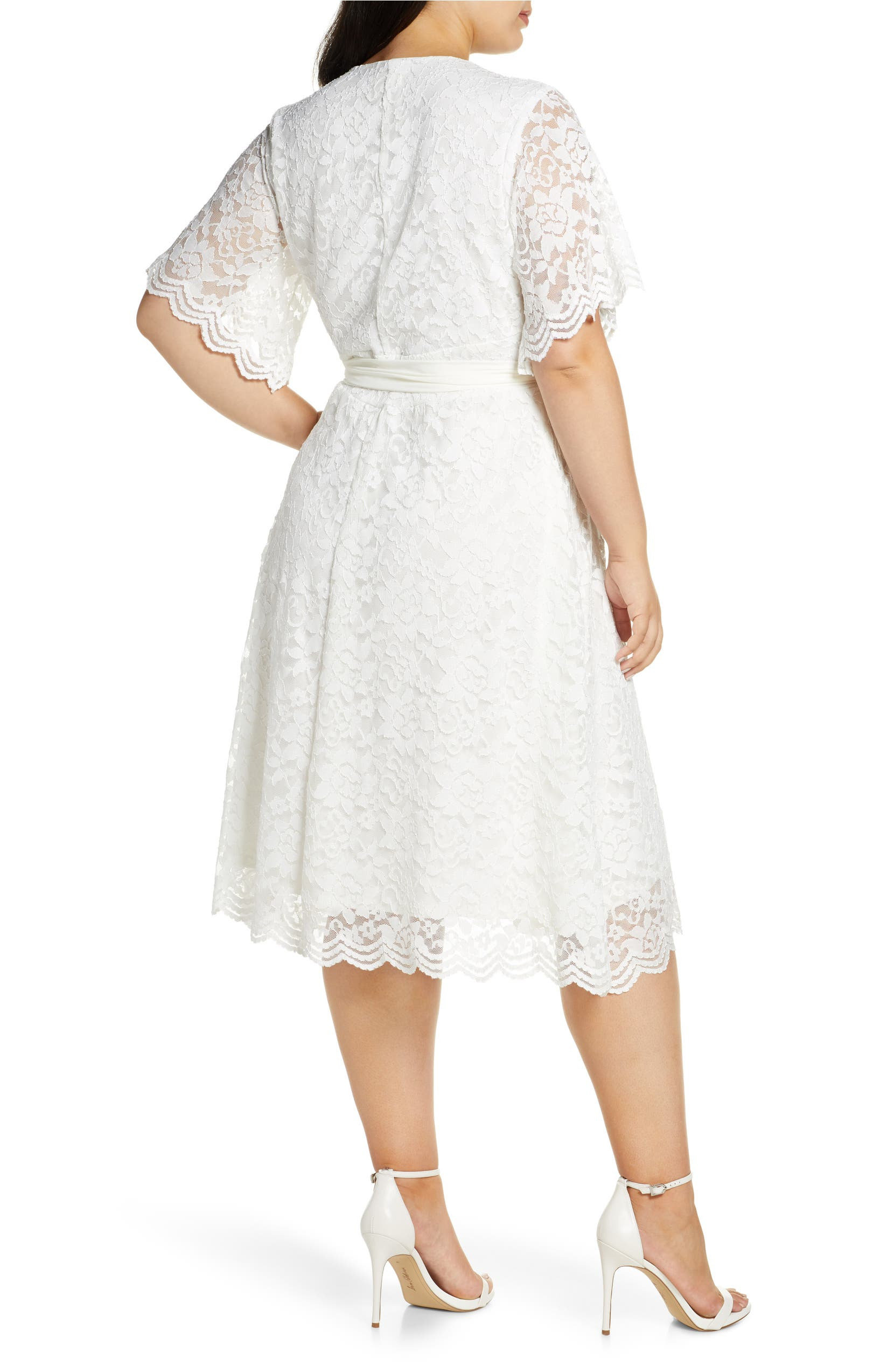 Kiyonna Graced with Love Faux Wrap Dress (Plus Size) | Nordstrom