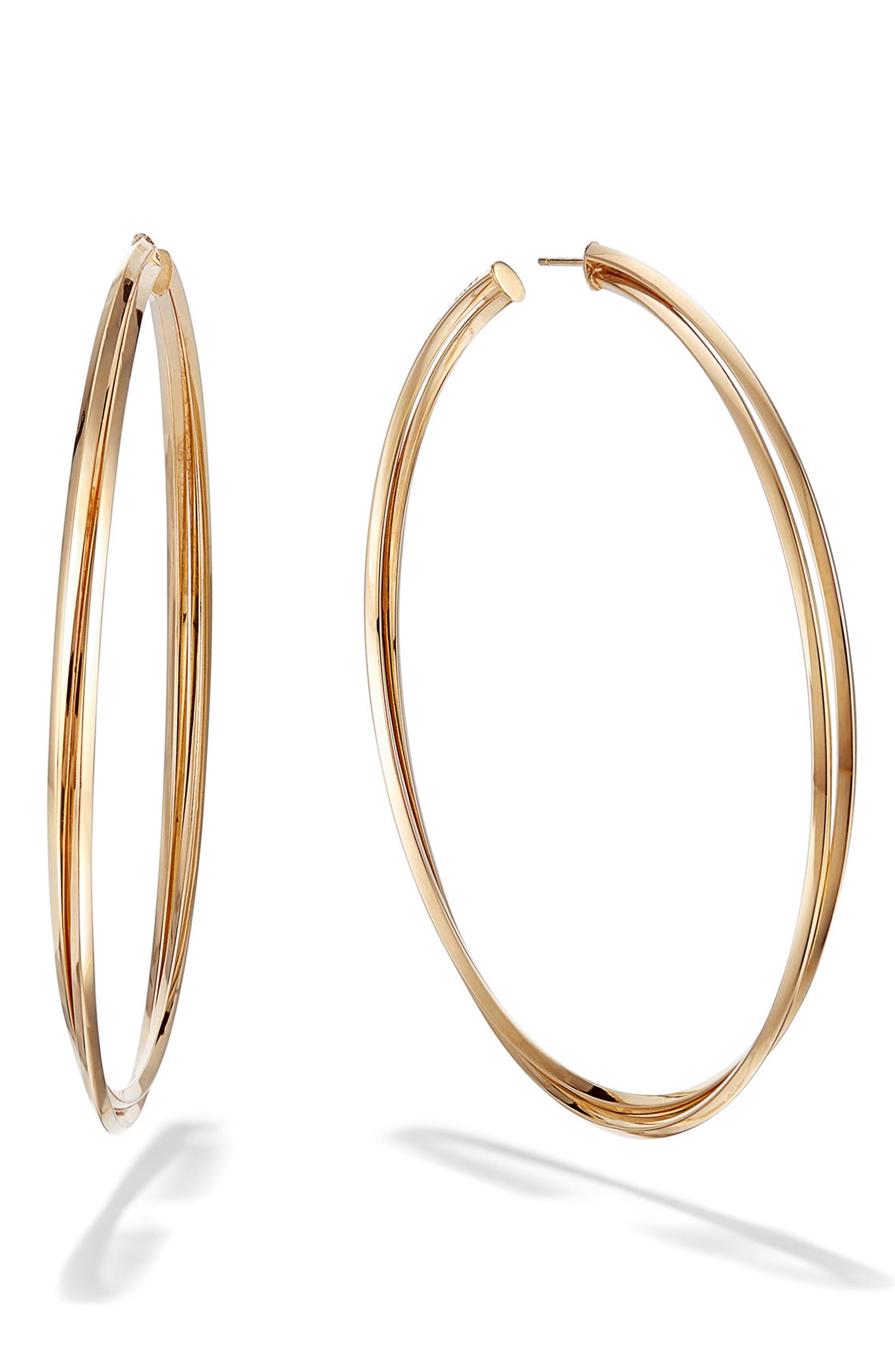 Crossover Royale Hoop Earrings