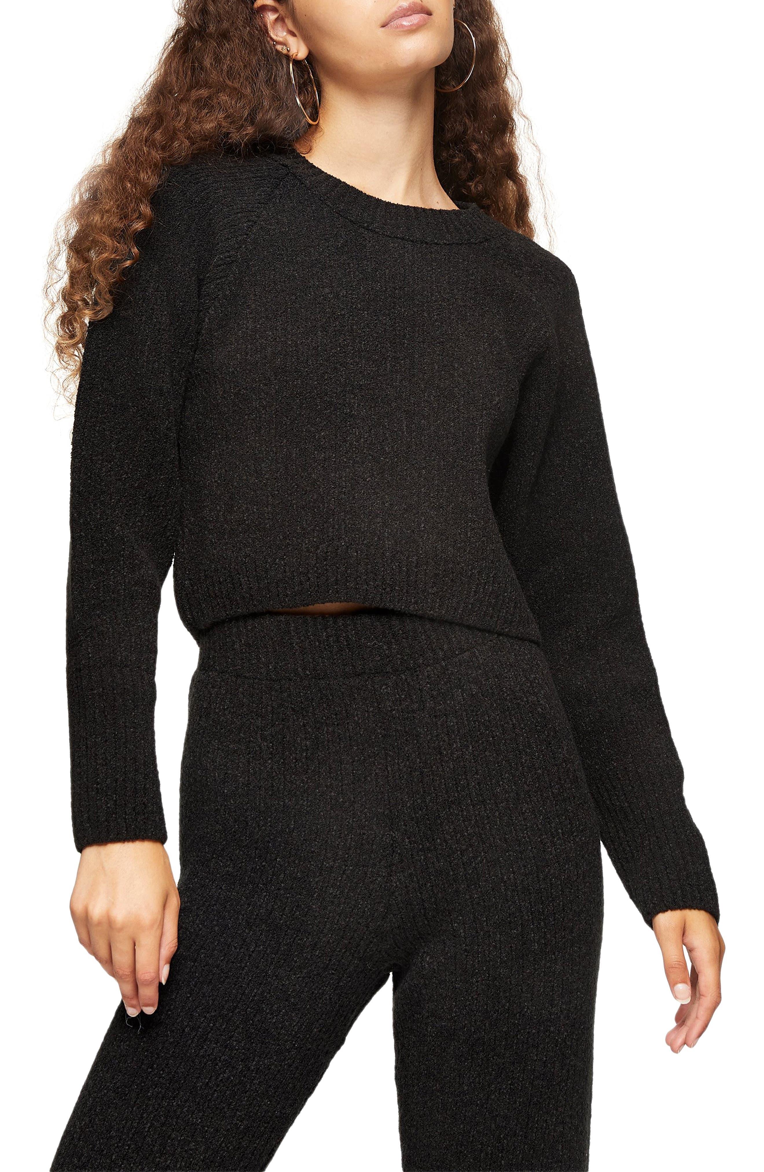 Image of TOPSHOP Boxy Bouclé Sweater