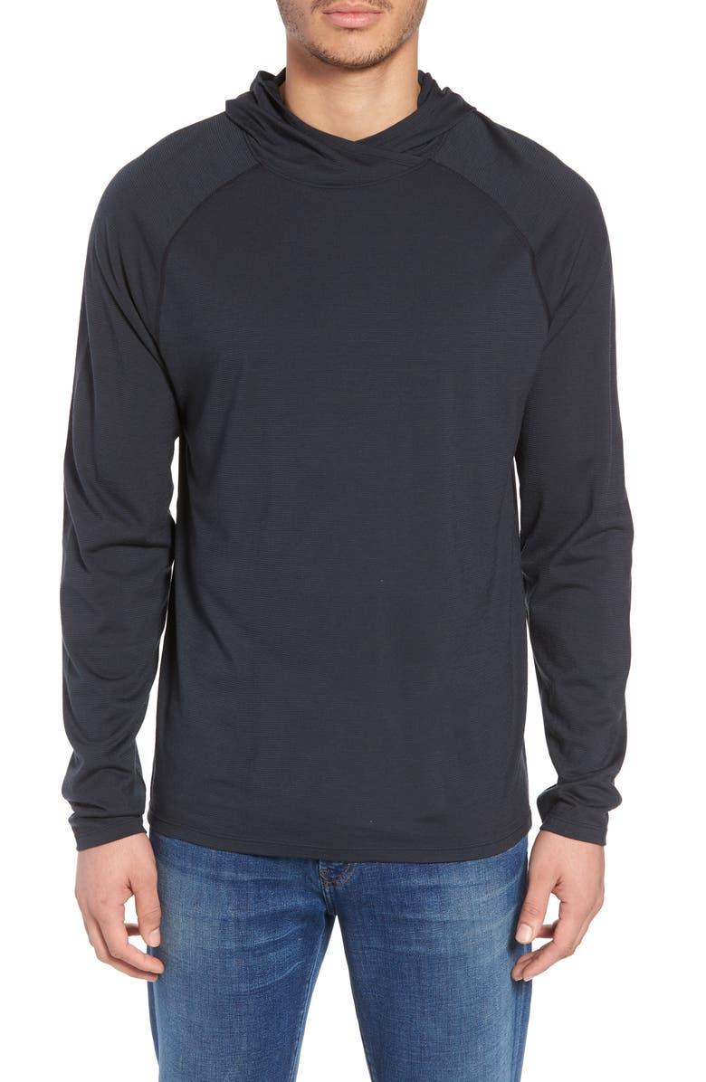 SMARTWOOL Merino 150 Wool Blend Hoodie, Main, color, CHARCOAL