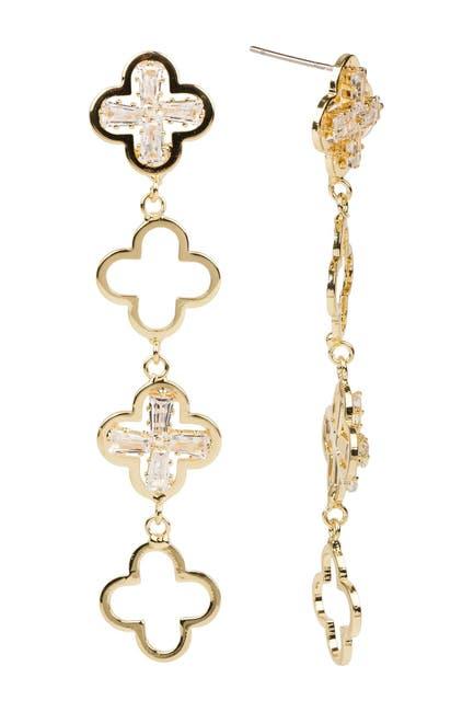 Image of Saachi Clover Drop Earrings