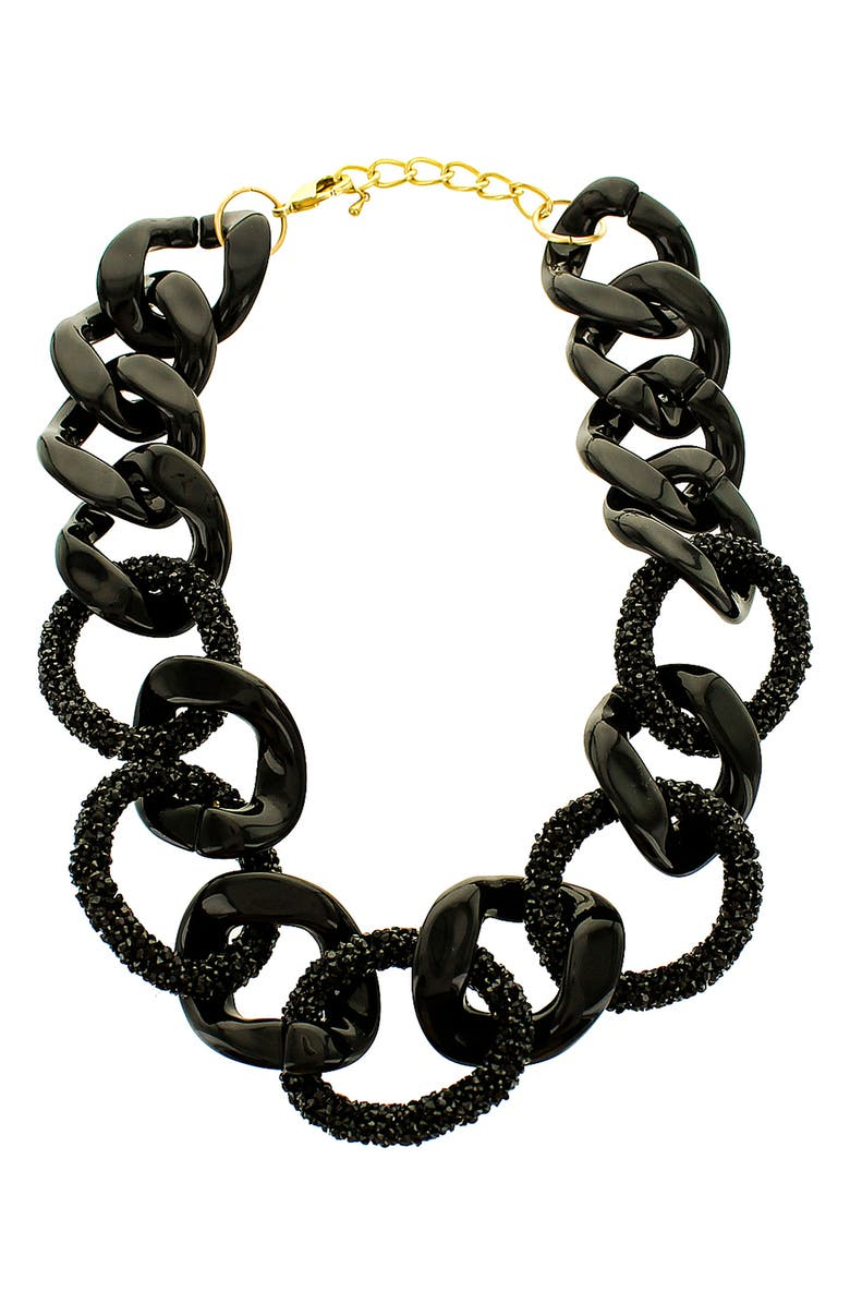PANACEA Resin Link Statement Necklace, Main, color, 001