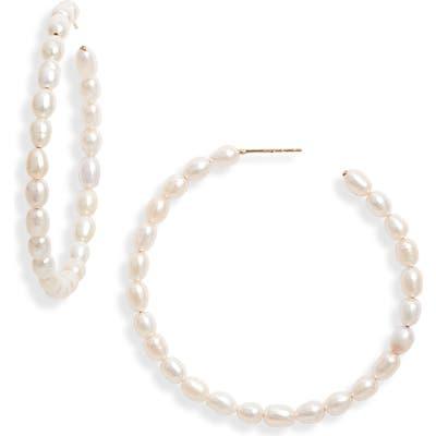 Loren Stewart Nina Pearl Hoop Earrings