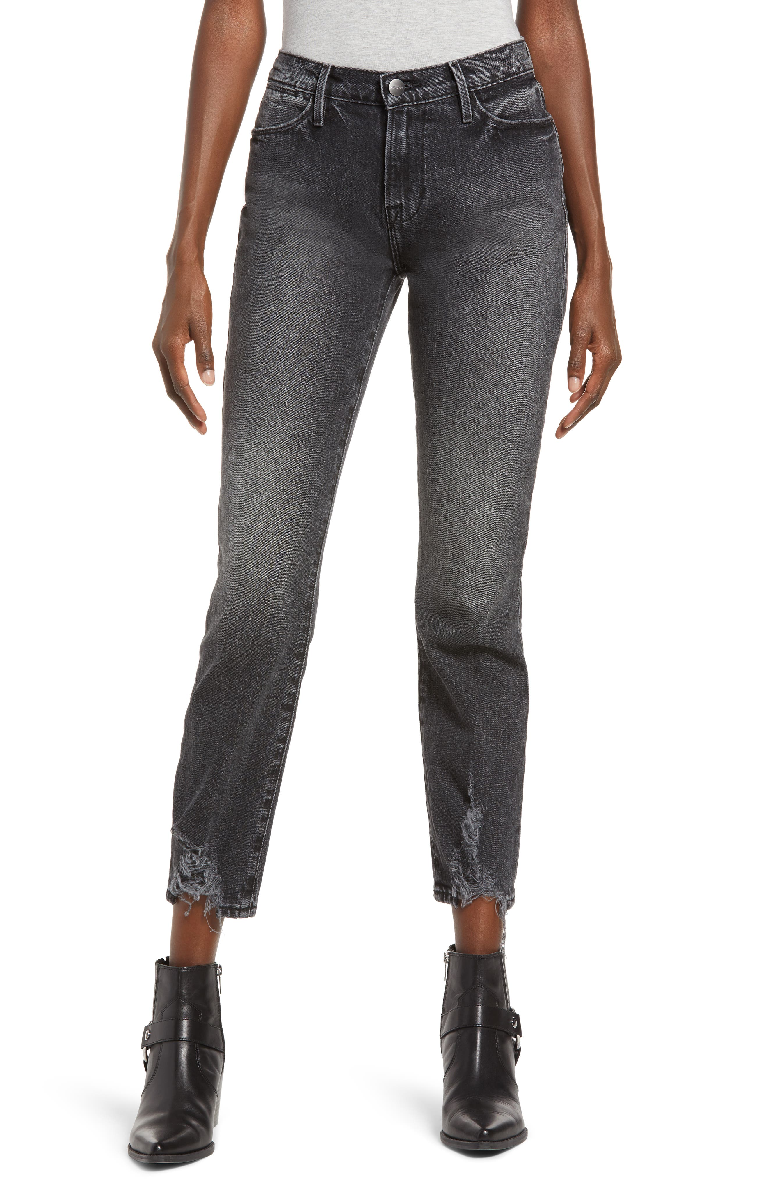FRAME Le High Waist Ankle Straight Leg Jeans (Silverwood Chew)   Nordstrom