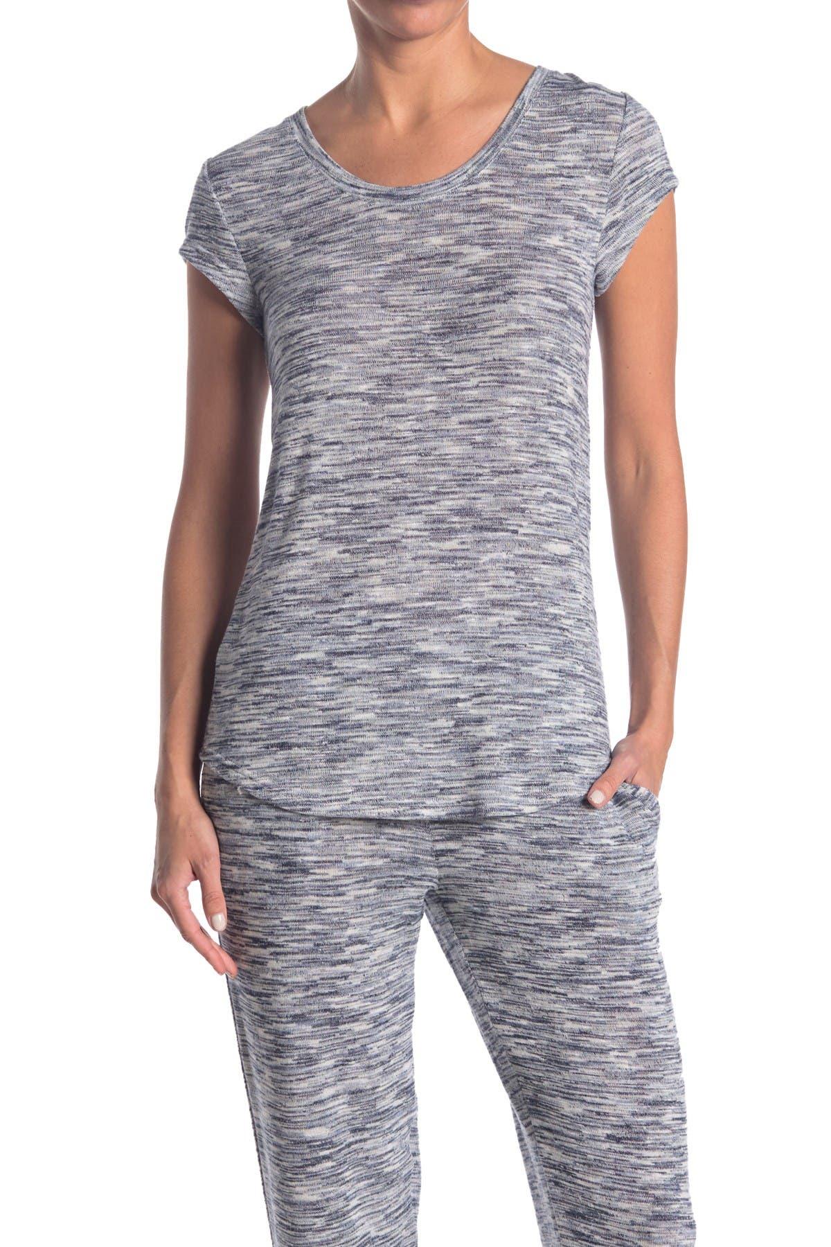 Image of HUE Space Dye Print Scoop Neck Pajama T-Shirt