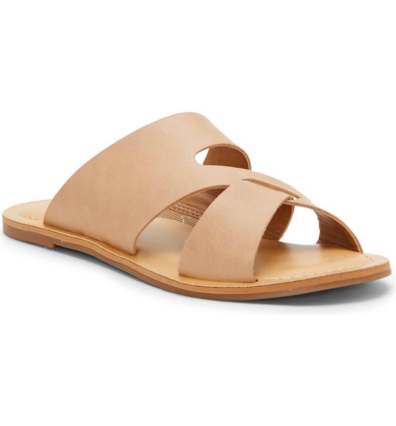 LUCKY BRAND Leelan Slide Sandal, Main, color, STONE LEATHER