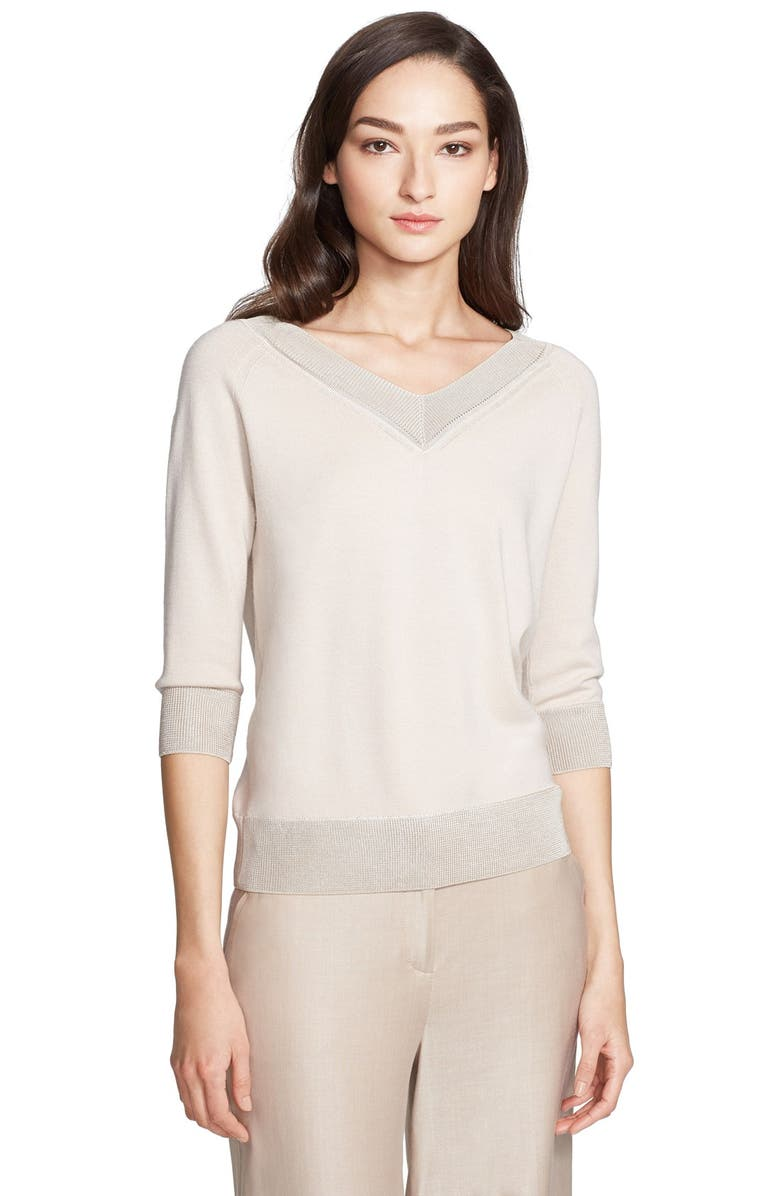 ST. JOHN COLLECTION Wool Blend Sweater, Main, color, 900